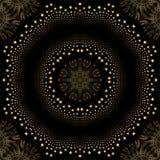 Het fonkelen van de optische illusie stermandala royalty-vrije illustratie