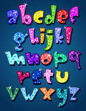 Het fonkelen van kleine letters alfabet Royalty-vrije Stock Afbeeldingen