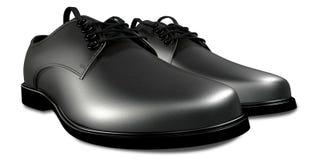 Het formele Zwarte Perspectief van de Schoenen van het Leer vector illustratie