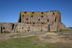 Het Fort Denemarken van Hammershus. Stock Foto's