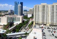 Het Fort Lauderdale van de binnenstad stock foto's