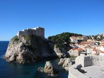 Het Fort Lovrijenac van Dubrovnik Stock Afbeeldingen