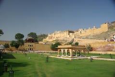Het fort van Ambert, Rajasthan Stock Afbeelding