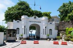 Het fort van Copacabana in Rio de Janeiro royalty-vrije stock foto