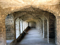 Het Fort van de steen bouw-0ld Royalty-vrije Stock Afbeeldingen