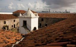 Het fort van drie Koningen in Geboorte, Brazilië Stock Fotografie
