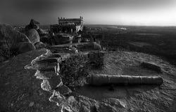 Het Fort van Golcunda in hyderabad-India. Stock Foto