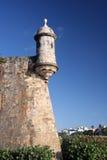 Het fort van Gr Morro in oud San Juan Stock Afbeeldingen