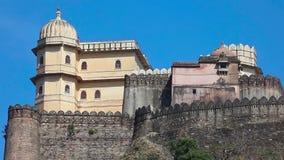 Het Fort van Kumbhalgarh stock videobeelden
