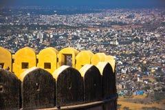 Het Fort van Nahargarh, Jaipur Stock Afbeeldingen