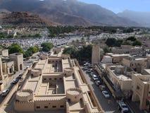 Het Fort van Nizwa in Oman Stock Fotografie