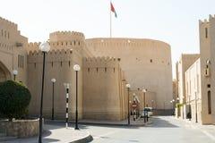 Het Fort van Nizwa in Oman Stock Foto