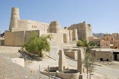 Het Fort van Nizwabahla in Advertentie Dakhiliya, Oman royalty-vrije stock foto's