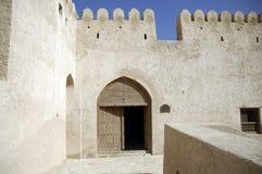 Het fort van Oman van Musandam khasab stock foto