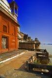 Het Fort van Ramnagar in Varanasi   Stock Afbeeldingen