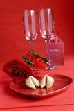 Het fortuinkoekje van de valentijnskaart Stock Afbeeldingen