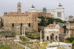 Het forum Italië van Rome Stock Fotografie