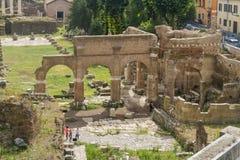 Het forum Italië van Rome Stock Afbeeldingen