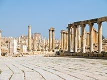 Het forum in Jerash, Jordanië. Royalty-vrije Stock Afbeelding