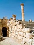 Het forum in Jerash, Jordanië. Stock Fotografie