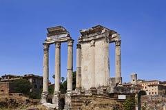 Het forum portic dag van Rome Stock Foto's