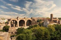 Het forum Romanum Stock Afbeelding