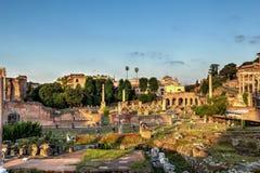 Het forum Romanum in Rome, Italië royalty-vrije stock afbeeldingen