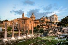 Het forum Romanum in Rome, Italië royalty-vrije stock afbeelding