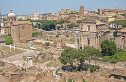 Het forum, Rome stock foto
