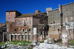 Het Forum van Augustus in Rome (Italië) Stock Foto