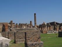 Het Forum van Pompei Stock Afbeeldingen