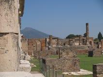 Het Forum van Pompei Stock Foto's