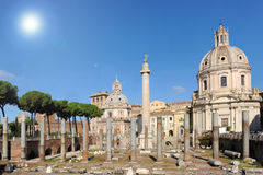 Het Forum van Trajan, Rome Stock Foto's
