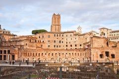 Het forum van Trajan in Rome Stock Foto's