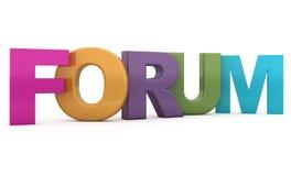 Het Forum van Word Stock Afbeelding