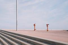 Het Forumscènes van Barcelona stock fotografie