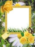 Het foto-kader van de zomer stock illustratie