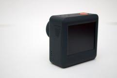 Het fotograferen van actiecamera op een witte achtergrond stock afbeeldingen