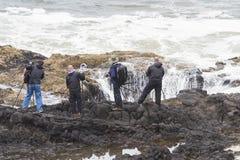 Het fotograferen van de kust van Oregon Royalty-vrije Stock Afbeelding