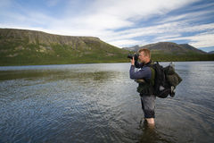 Het fotograferen van de toerist royalty-vrije stock foto's