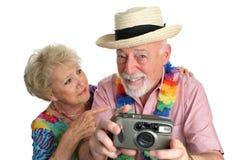 Het fotograferen van Meisjes op Strand Stock Foto