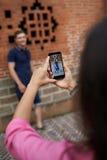 Het fotograferen van toeristen Stock Fotografie