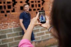 Het fotograferen van vriend Royalty-vrije Stock Foto