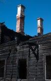 Het fragment van brand vernietigde het huis Royalty-vrije Stock Fotografie