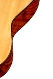 Het fragment van de gitaar op een witte achtergrond Royalty-vrije Stock Foto