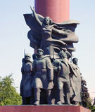 Het fragment van het Monument van Lenin Royalty-vrije Stock Foto's
