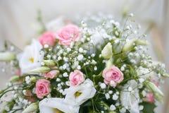 het fragment van huwelijksbloemen royalty-vrije stock foto's