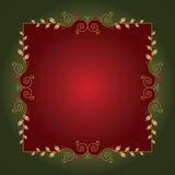 Het frame of de achtergrond van Kerstmis Stock Foto