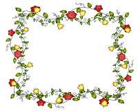 Het Frame of de Grens van de Wijnstok van de bloem Stock Fotografie