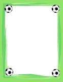 Het frame/de grens van het voetbal vector illustratie